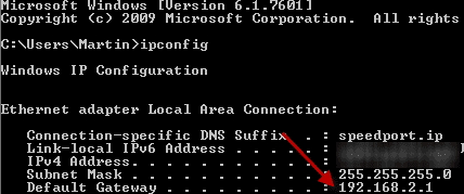 Find Your Router IP Address - 192.168.2.1