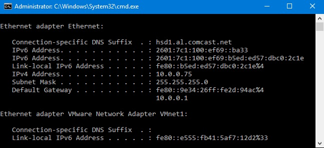 How to Find Your Router's IP Address in Windows - 10.0.0.1.